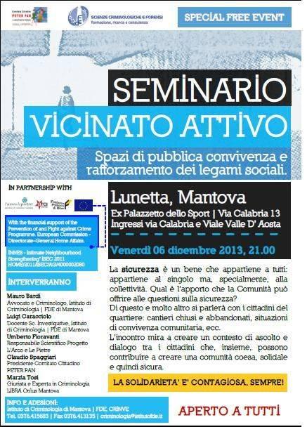 Seminario Vicinato Attivo a Lunetta (Mantova)