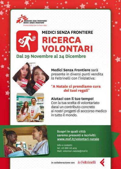 Medici Senza Frontiere Mantova volontari Natale 2014