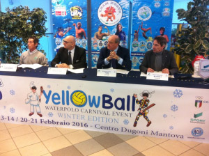 Yellow Ball Waterpolo Carnival Event Mantova 2016