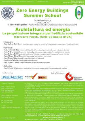 Mantova Zero Energy Buildings Summer School